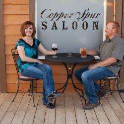 couple at dude ranch