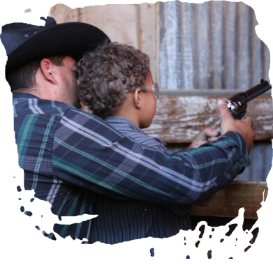 WESTERN THEME TOWN SHOOTING GALLERY