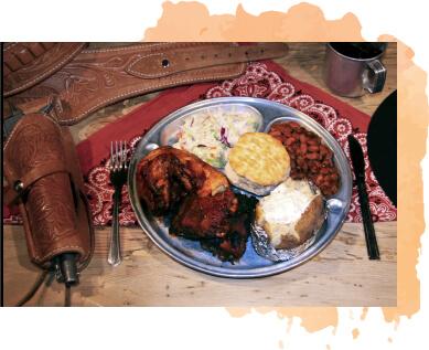 meal at dude ranch
