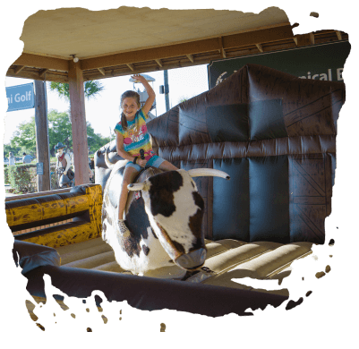 WESTERN THEME TOWN WITH BULL RIDING